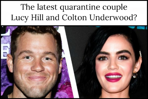 The latest quarantine couple Lucy Hill and Colton Underwood?