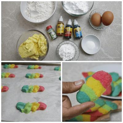 Kue Lidah Kucing Rainbow Tanpa Cetakan