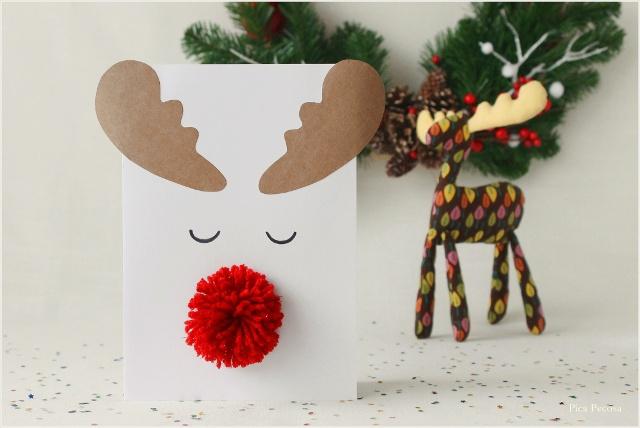 postal-navidad-diy-materiales-reciclados-reno-pompon-lana