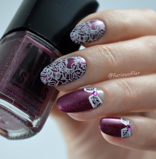 #31dc2016 bmxl-201 stamping lace rhinestones vintage half moon