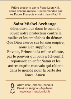 saint Michel Archange Prière