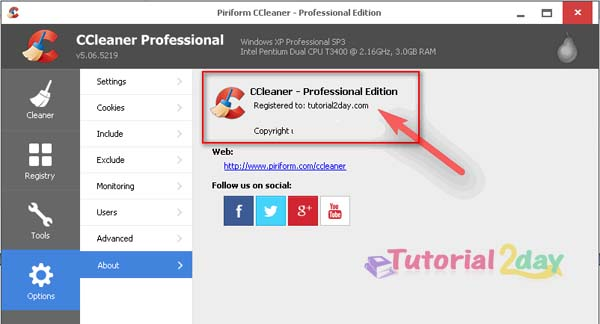 CCleaner professional license key full version