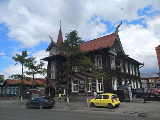 Томск, архитектура, достопримечательности, дом с драконами