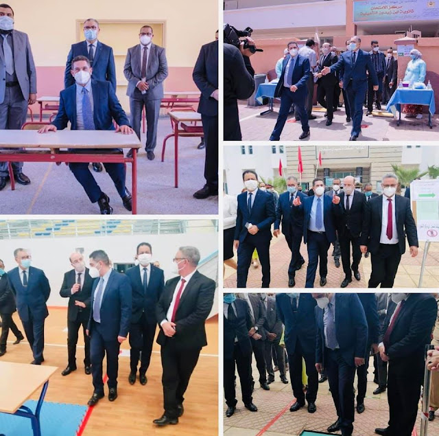 بالصور..الوزير أمزازي يقف على سير عملية التحضير لإمتحانات الباكالوريا✍️👇👇👇