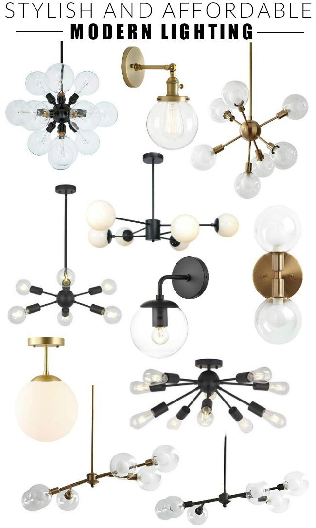 mid century modern lighting from amazon