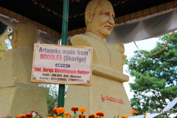 Dasara Flower Show 2016 - noodles artwork