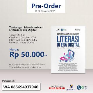 Pre-Order Buku Tantangan Membumikan Literasi di Era Digital