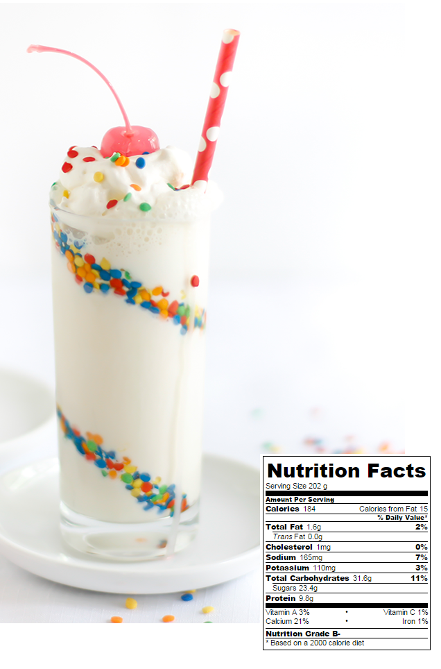 Birthday Cake Batter Milkshake Recipe