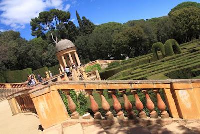 Mirador o Belvedere del Parc del Laberint en Barcelona