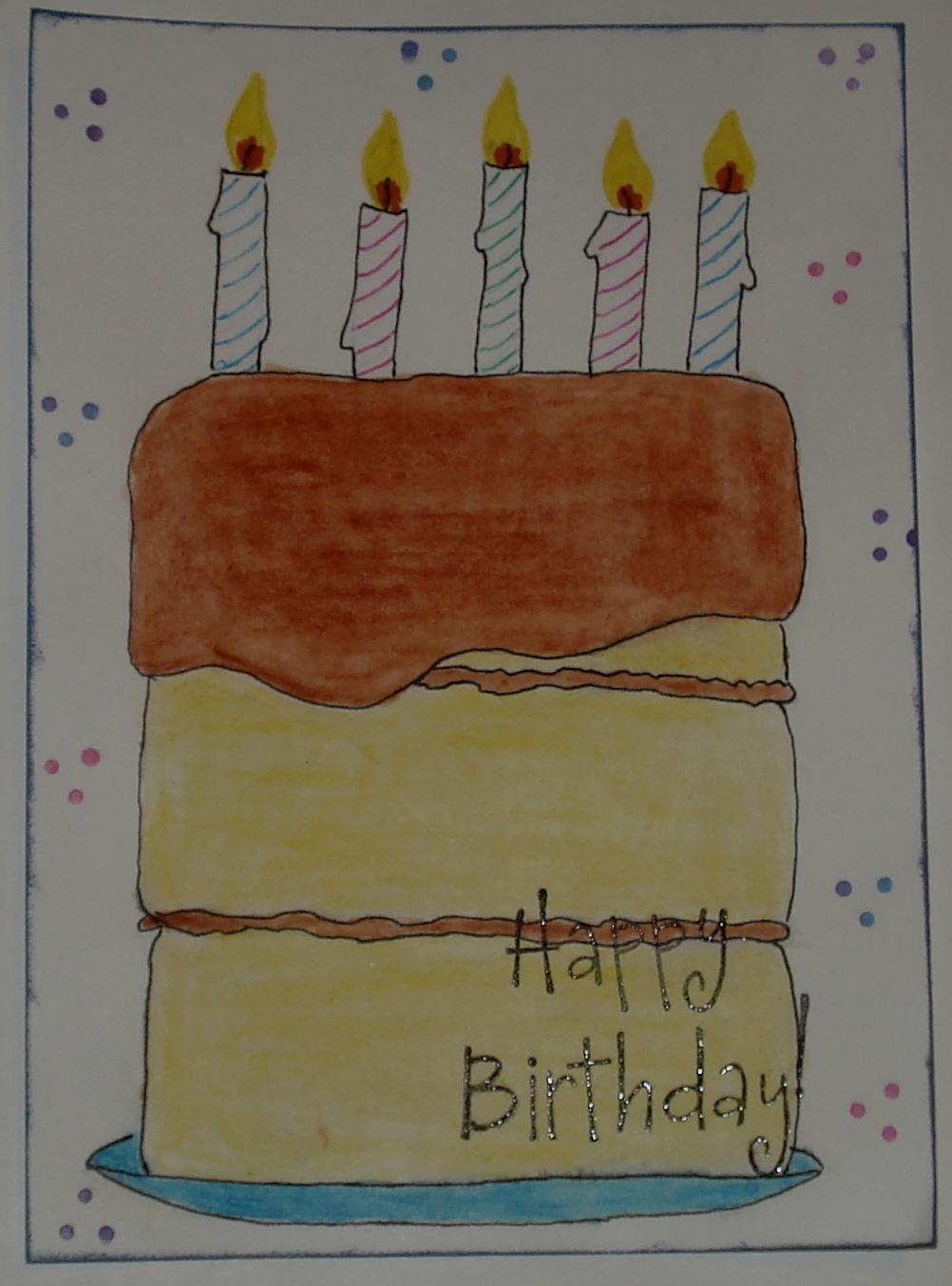Mail Me Some Art Happy Birthday Cake Post Card Swap Send By July