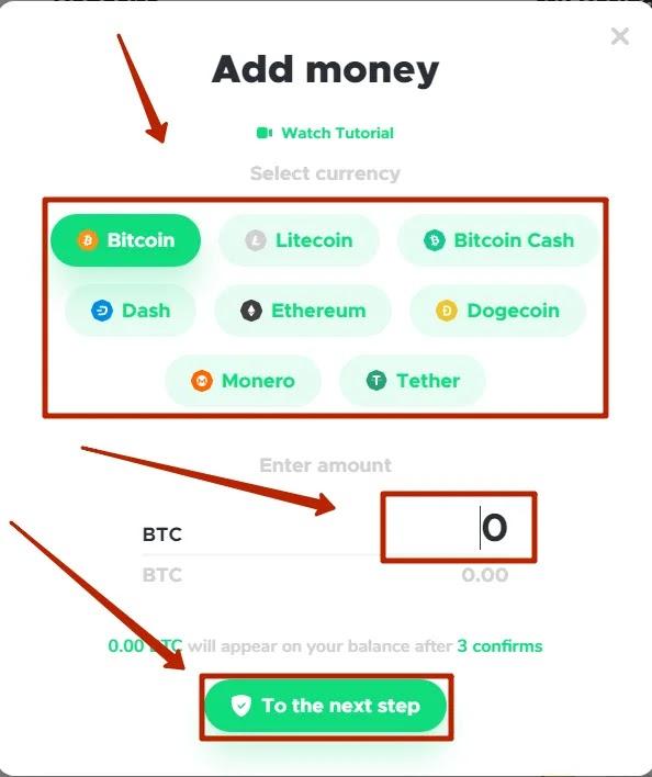 Пополнение баланса в BitcoLoan 2