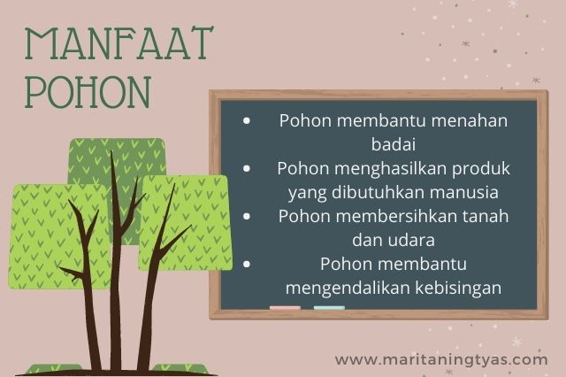 manfaat pohon bagi manusia dan hewan