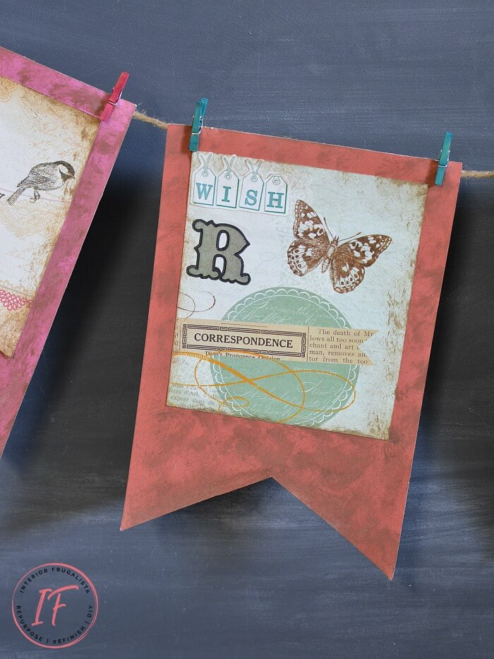 Paper Crafting Dollar Store Spring Bunting Idea