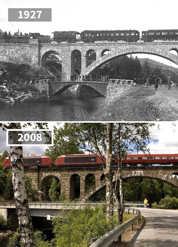 Kjeåsen Railway Bridge, Kjeåsen, Norway, 1927 - 2008