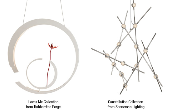 Cutting edge modern lighting from Hubbardton Forge - Loves Me Collection