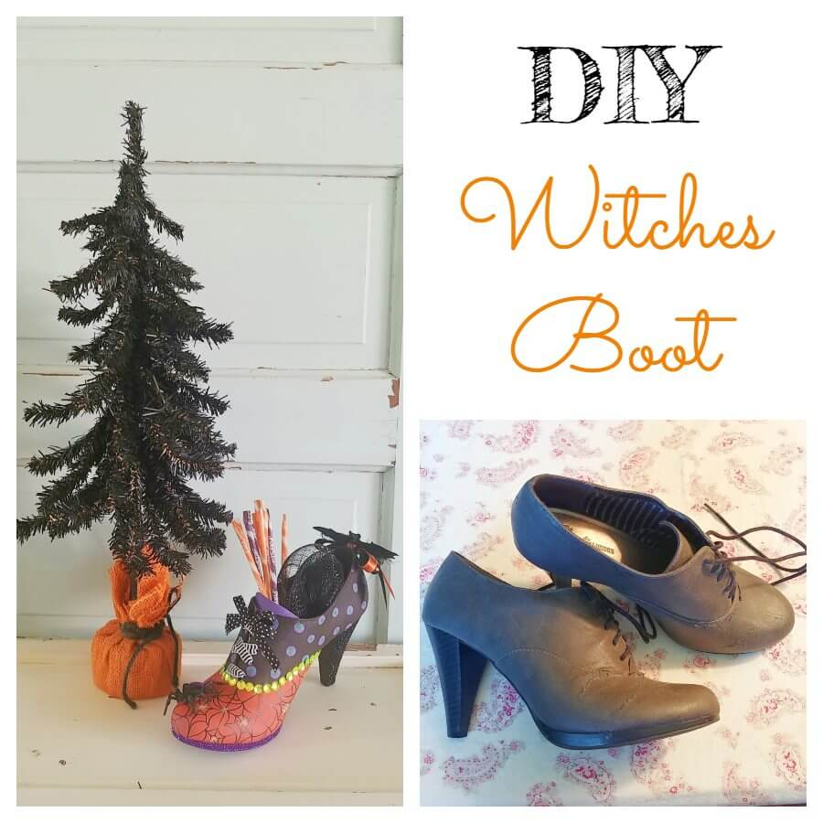 DIY Witch's Boot - 7 Days of Thrift Shop Flips