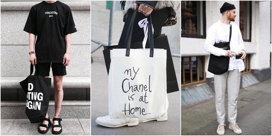 Totebags: as bolsas que estão se tornando um hit do street style masculino