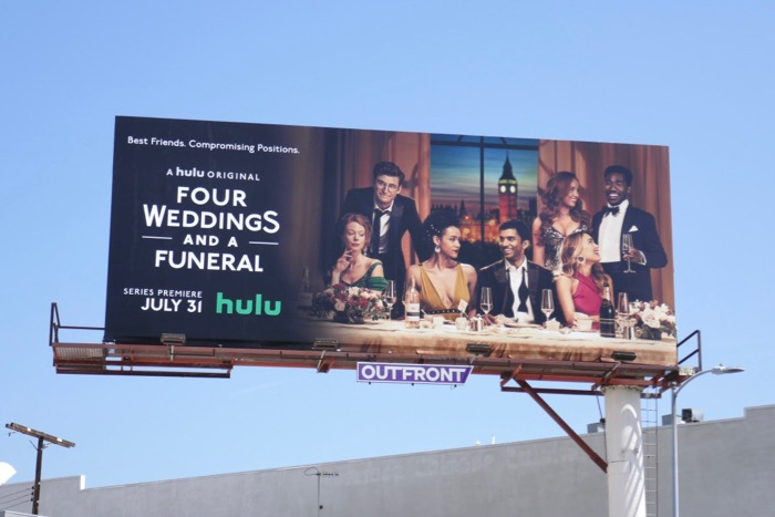 Four Weddings and a Funeral series billboard