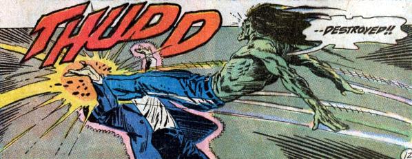 Phantom Stranger #26, Spawn of Frankenstein leaps, Jim Aparo