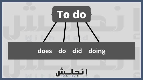 الافعال المساعدة في اللغة الانجليزية - حالات الفعل to do