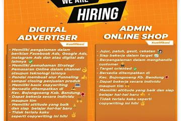 Lowongan Kerja Digital Advertiser & Admin Online Shop CV Pelita Abadi Solusindo