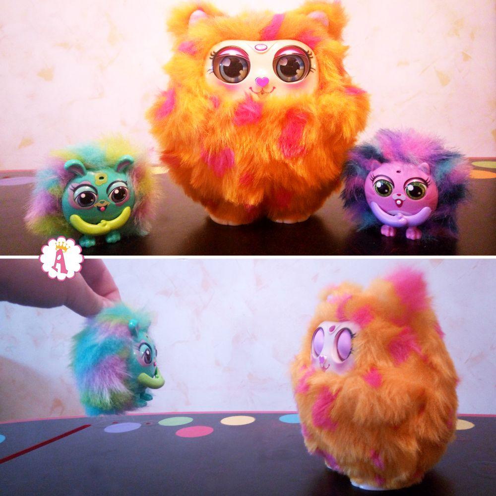 Интерактивная игрушка сова Mama Furry с пушистиками Tiny Furries