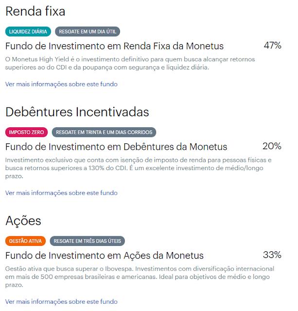 Carteiras digitais de investimentos: Magnetis, Monetus, Vérios e Warren.