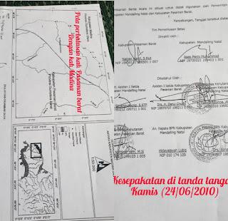 Dugaan Pergeseran Tapal Batas Antara Kabupaten Pasaman Barat dengan Kabupaten Madina Mulai Terkuak