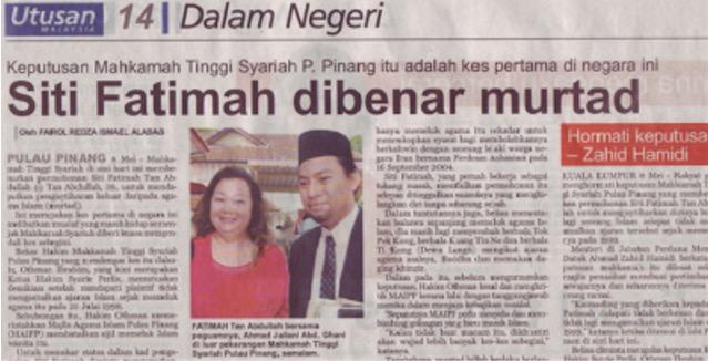 6 Kes Murtad Paling Popular di Malaysia