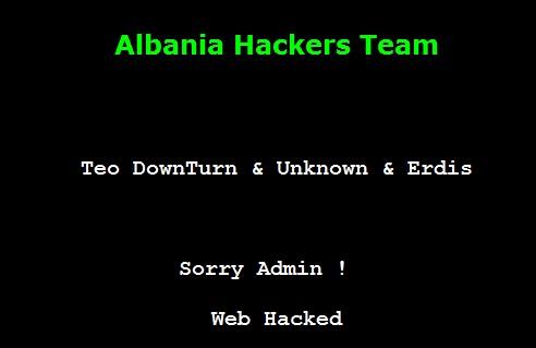 8 Websites Hacked By Albanian Hackers Team (Teo DownTurn & Unknown Hacker)