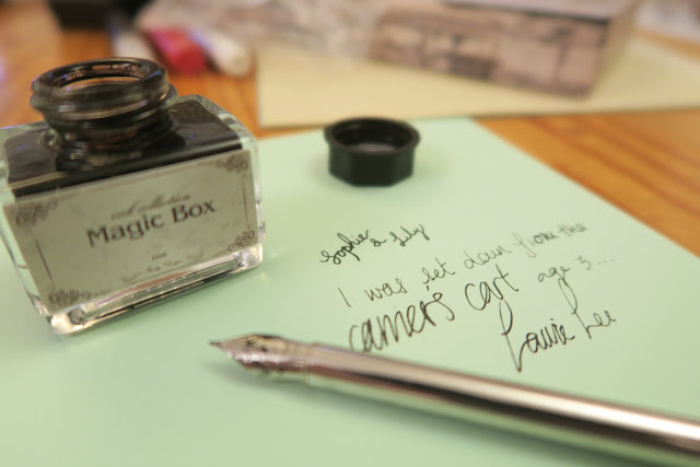 styles of handwriting with pen and ink