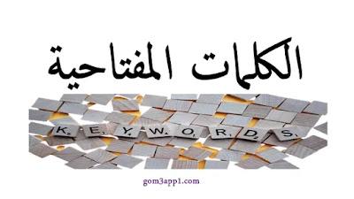 الكلمات المفتاحية المستهدفة Keywords