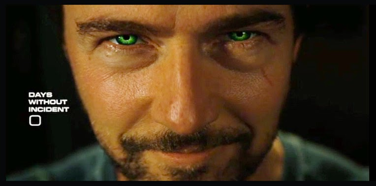 Edward Norton in the movie The Incredible Hulk