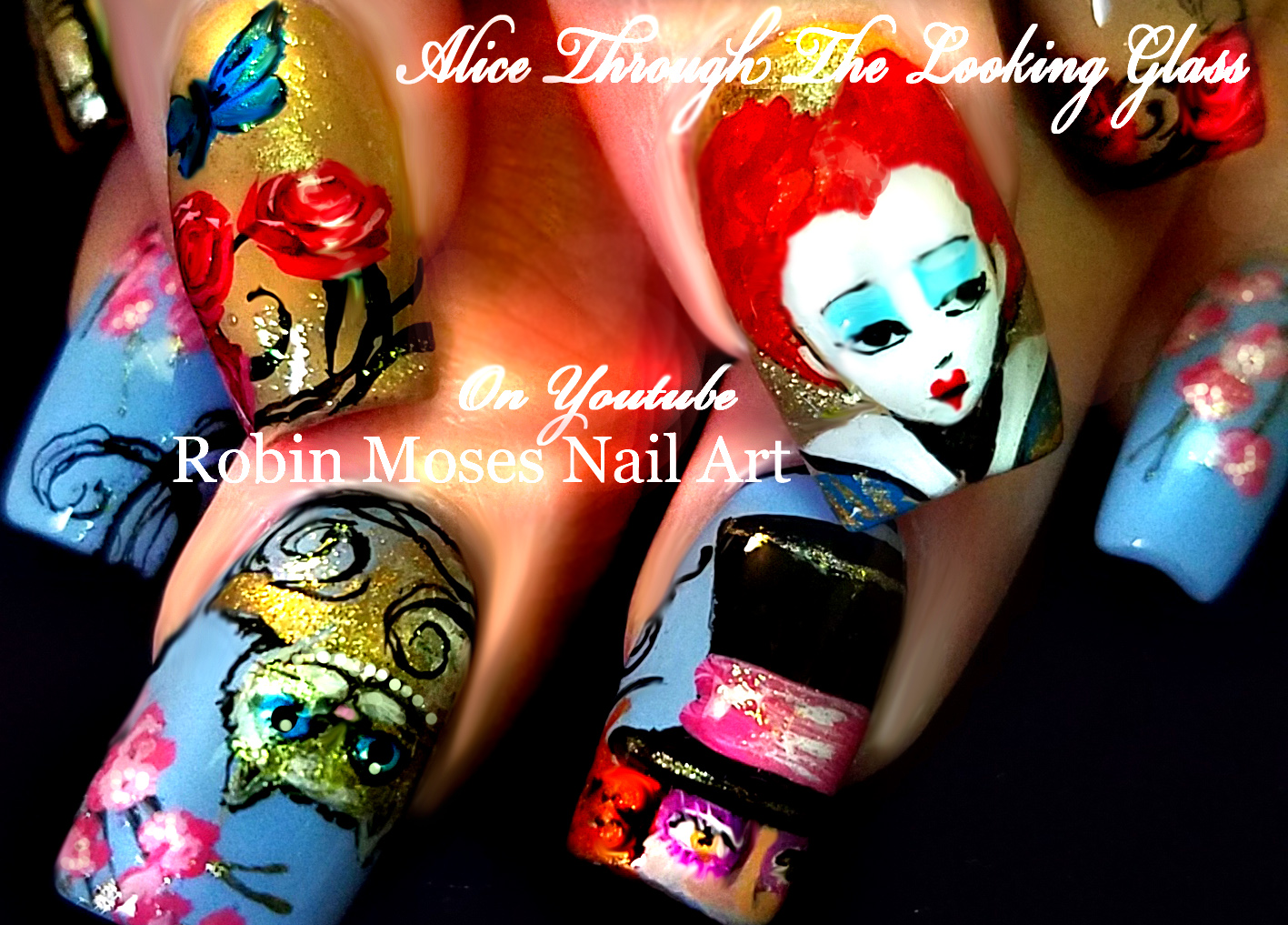 Robin Moses Nail Art: Alice Through the Looking Glass nail