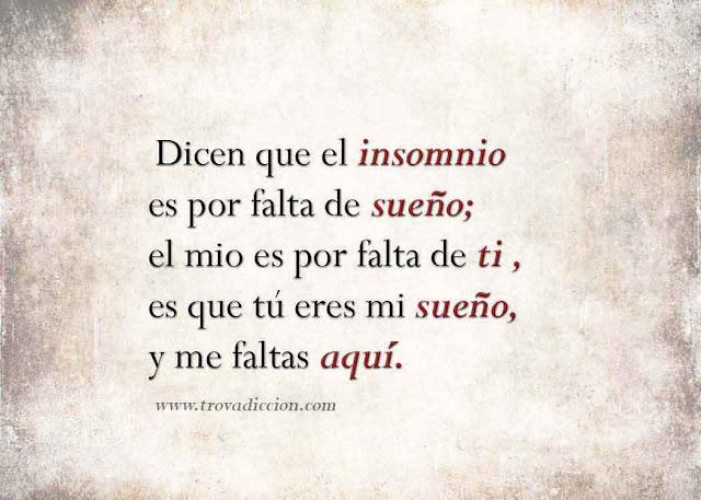 dicen que el insomnio es por falta de sueño