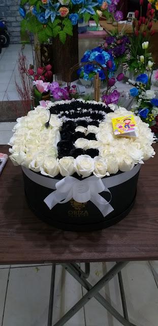 jual flower box surabaya, jual buket bunga daerah surabaya, beli karangan bunga di surabaya