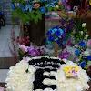 Flower Box Jumbo White-Black Roses