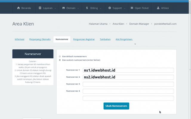 nameserver idwebhost