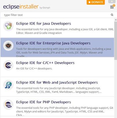 Eclipse Installer Wizard