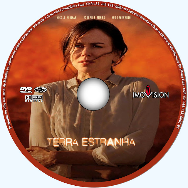 Label DVD Terra Estranha
