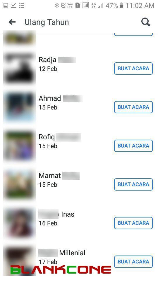 lihat daftar lengkap semua teman yang ulang tahun di aplikasi facebook