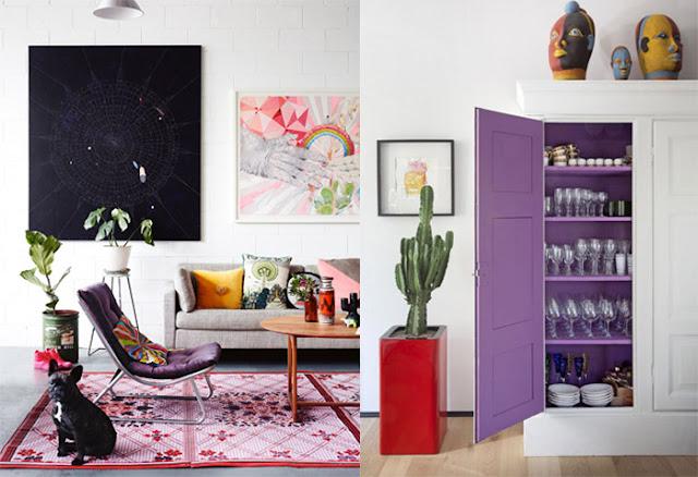 Pantone cor do ano 2018: Ultra Violet na decoração