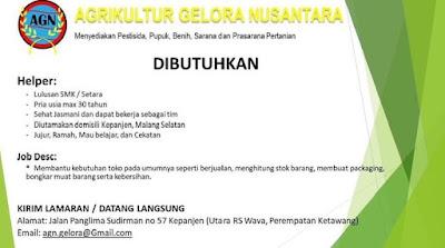 Lowongan Kerja Malang April 2021