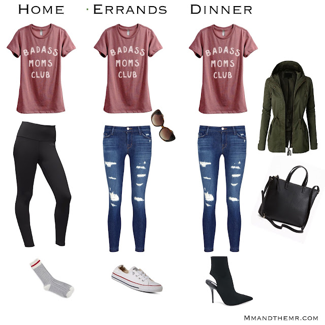 multiple easy mom outfit ideas