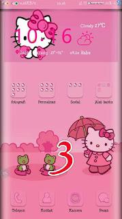 Tema Hello Kitty untuk Oppo