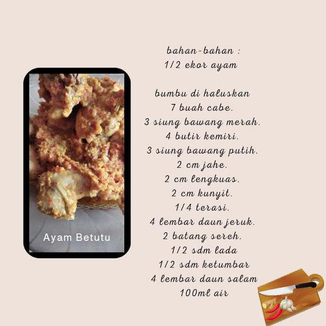 Cara membuat ayam betutu