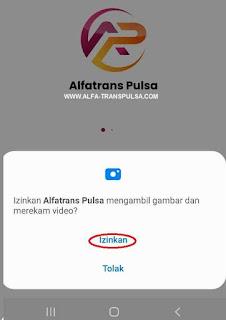 Izinkan Alfatrans Pulsa mengambil gambar dan merekam video?