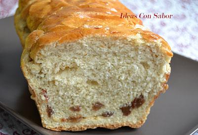 Pan dulce de pasas