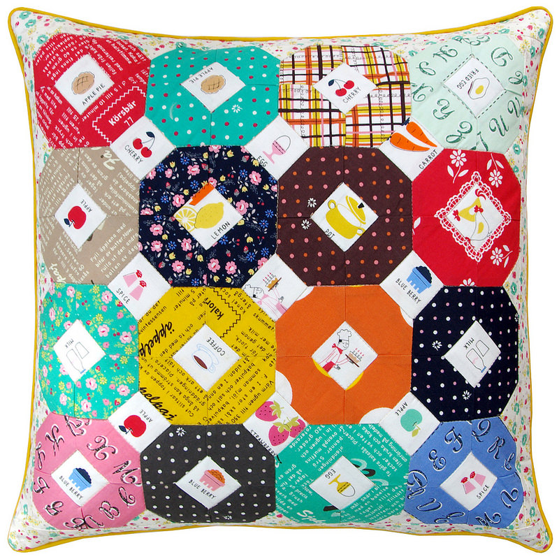 Lighthearted Kansas Dugout Pillow Cover | Red Pepper Quilts 2015