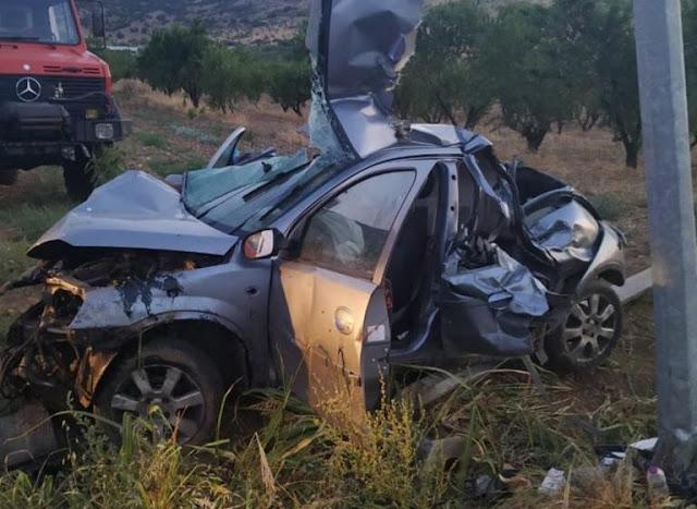 Λάρισα: Εικόνες που σοκάρουν σε φοβερό τροχαίο – Σκοτώθηκαν δύο νέα παιδιά – Διαλύθηκε το μοιραίο αυτοκίνητο